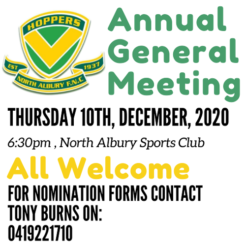 Our Annual General Meeting (AGM) is on Thursday the 10th of December 2020. Everyone is welcome and for all nomination forms contact Tony Burns on 0419221710